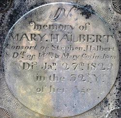 Mary <I>Cottingham</I> Halbert