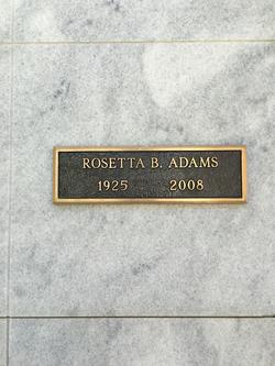 Rosetta B Adams