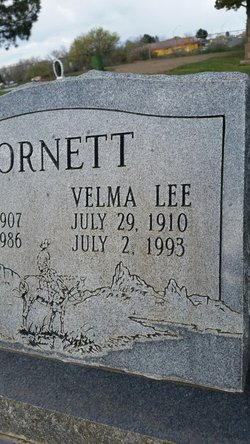 "Velma Lee ""Mutt"" <I>Hughes</I> Cornett"