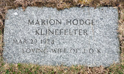 Marion Elsie <I>Hodge</I> Klinefelter