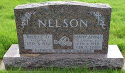 Mary Ann Irene <I>Dahle</I> Nelson