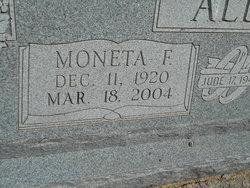 Moneta Frances <I>Burrow</I> Allen
