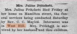 Mrs Julius Pritchett