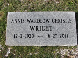 Annie E. <I>Wardlaw</I> Christie Wright