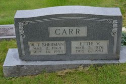 "William Tecumceh Sherman ""Sherman"" Carr"