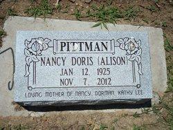 """Nancy """"Doris"""" <I>Alison</I> Pittman"""