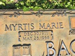 Myrtis Marie Bagwell