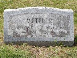 Frances Ellen <I>Tong</I> Mettler