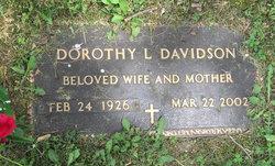 Dorothy Louise <I>Hook</I> Davidson