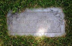 Marjorie Rose <I>Eirich</I> Rice