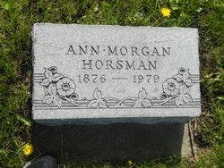 Ann <I>Morgan</I> Horsman