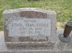 Ethel Fern <I>Spangler</I> Scott