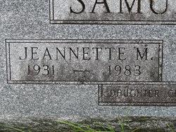 Mildred Jeannette <I>Moore</I> Samuelson