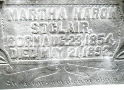 Martha Jane <I>Naron</I> St. Clair