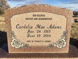 Cordelia Mae <I>Clark</I> Adams