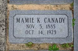 Mamie M <I>King</I> Canady