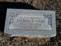 Esther <I>Thomas</I> Nash