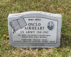 pfc onclo merel airheart 1918 2001 find a grave memorial