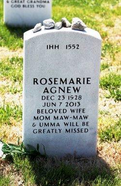 """Rosemarie """"Old Blue Eyes"""" <I>Botto</I> Agnew"""