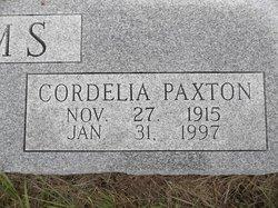Cordelia <I>Paxton</I> Adams