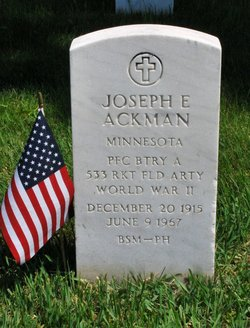 PFC Joseph Edward Ackman