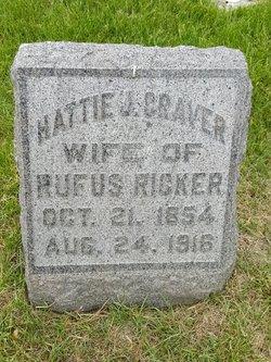 Harriett Jane <I>Craver</I> Ricker