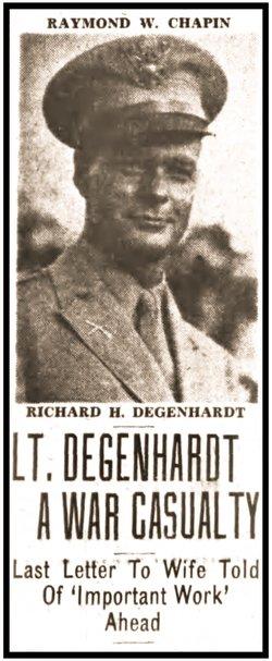 2Lt Richard H Degenhardt