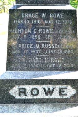 "Richard M ""Dick"" Rowe"