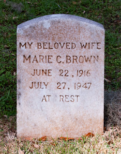 Marie <I>Chisolm</I> Brown