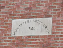 Barnett's Creek Baptist Church Cemetery