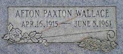 Afton <I>Paxton</I> Wallace