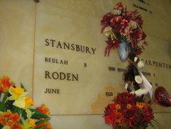 June <I>Stansbury</I> Roden