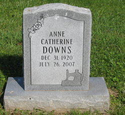 Anne Catherine <I>Schaaf</I> Downs