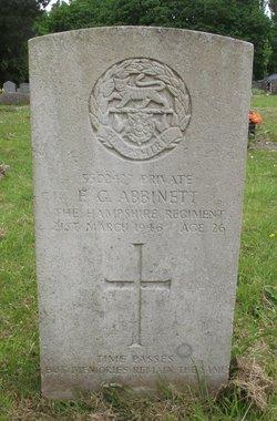 Private Ernest Gilbert Abbinett