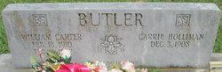 Carrie <I>Holliman</I> Butler