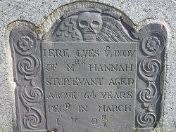 Hannah <I>Winslow</I> Sturtevant
