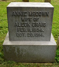 Annie <I>McCown</I> Craig