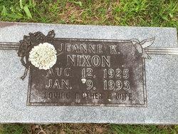 Jeanne K Nixon