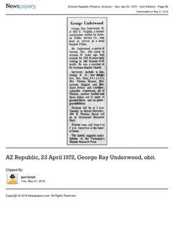George Ray Underwood