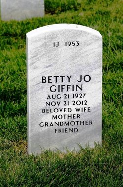 Betty Jo <I>Schrum</I> Giffin