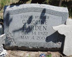 Caroline <I>Swisher</I> Harden