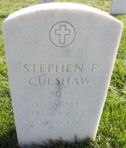 Stephen F Culshaw