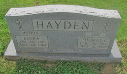 "M Florella ""Flora"" <I>Blandford</I> Hayden"