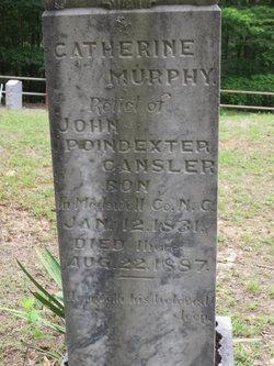 """Catherine M """"Kate"""" <I>Murphy</I> Cansler"""