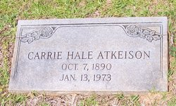 Carrie <I>Hale</I> Atkeison