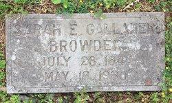 "Sarah Elizabeth ""Sallie"" <I>Gallaher</I> Browder"