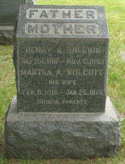Martha A <I>Wolcott</I> Baldwin