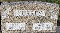 Mary A <I>Tucker</I> Currey
