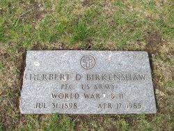 Herbert D Birkenshaw