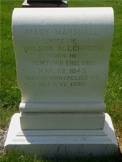 Mary <I>Marshall</I> Allchurch